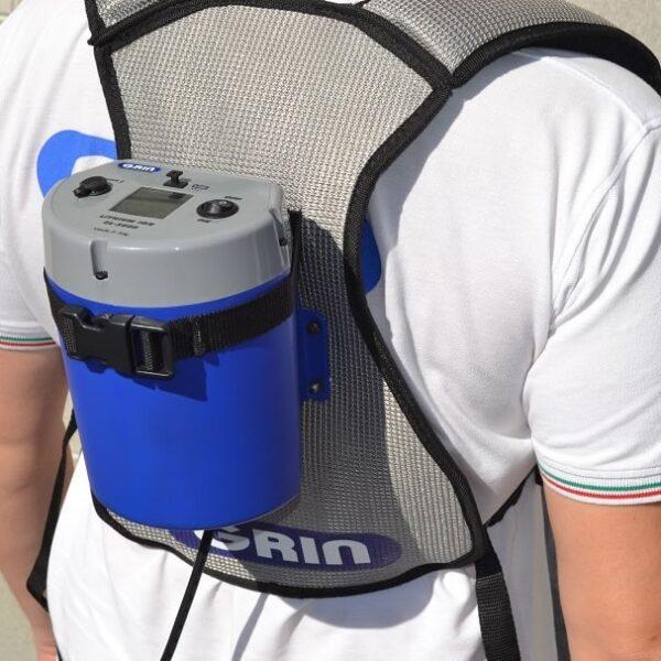 Zaino porta batteria per decespugliatore