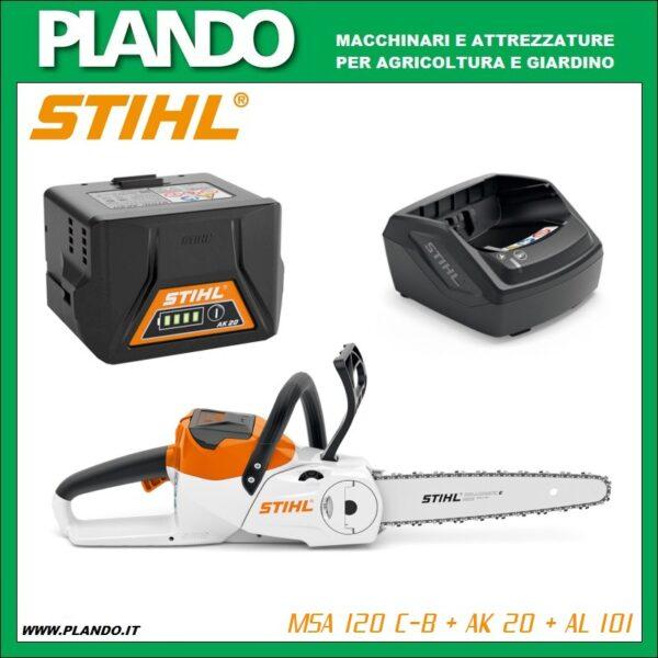 STIHL MSA 120 C-B con AK 20 + AL 101