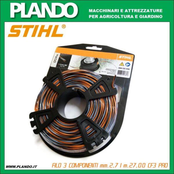 FILO 3 COMPONENTI mm.2,7 l m.27,00 STIHL CF3 PRO