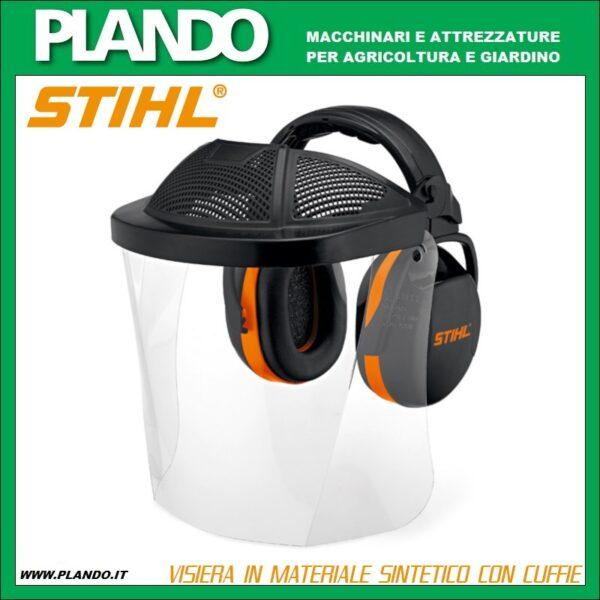 Visiera in materiale sintetico con cuffie STIHL