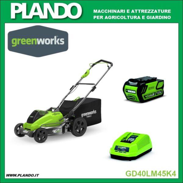 Greenworks RASAERBA A BATTERIA 40V 45cm con motore DigiPro