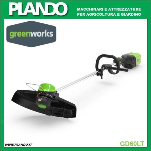 Greenworks DECESPUGLIATORE A BATTERIA CON MOTORE ANTERIORE DIGIPRO 60V