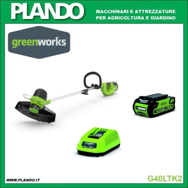 Greenworks BORDATORE A BATTERIA CON MOTORE ANTERIORE 40V