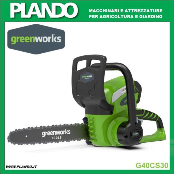 Greenworks MOTOSEGA A BATTERIA 40V 30 cm