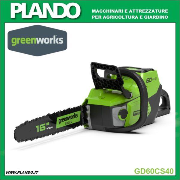 Greenworks MOTOSEGA A BATTERIA 60V 40cm CON MOTORE DIGIPRO