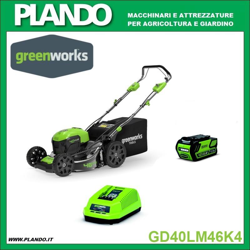 Greenworks KIT RASAERBA A BATTERIA TRAZIONATO 40V 46cm