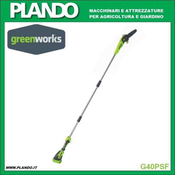 Greenworks POTATORE A BATTERIA CON PROLUNGA 40V 250cm