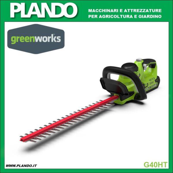 Greenworks TAGLIASIEPI A BATTERIA 40V 61cm
