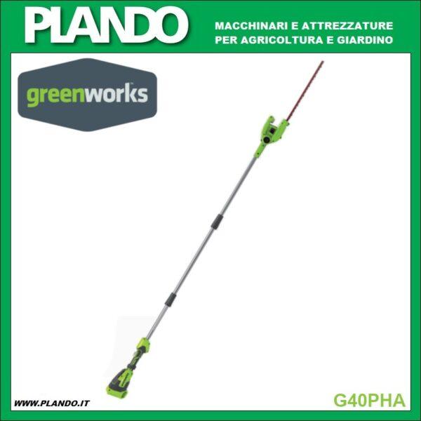 Greenworks TAGLIASIEPI AD ASTA 40V 51cm