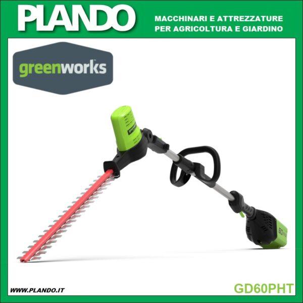 Greenworks TAGLIASIEPI AD ASTA 60V 51cm
