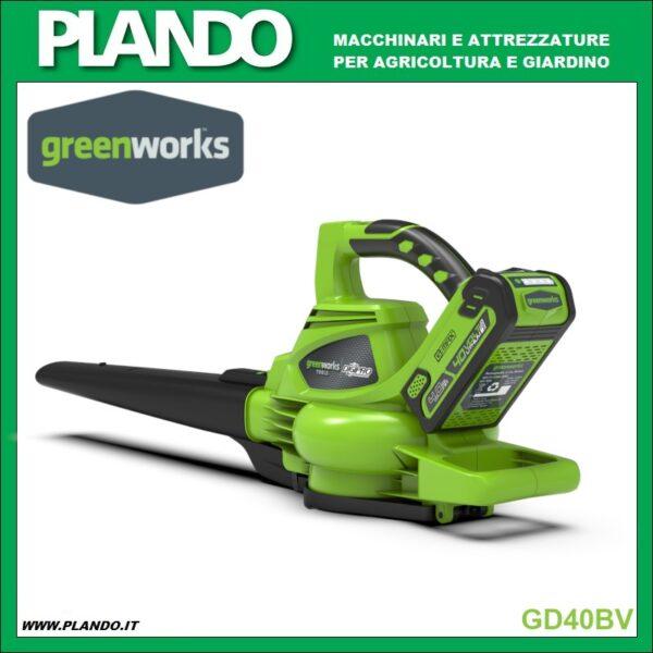 Greenworks SOFFIATORE/ASPIRATORE A BATTERIA 40V