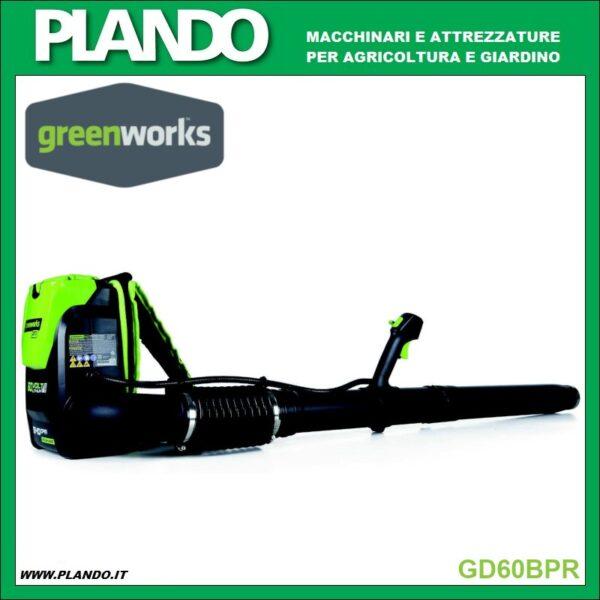 Greenworks SOFFIATORE SPALLEGGIATO A BATTERIA 60V