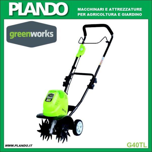Greenworks MOTOCOLTIVATORE A BATTERIA 40V