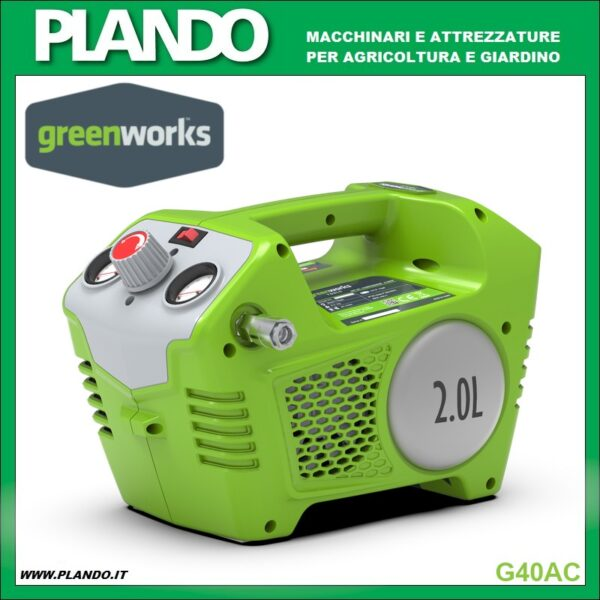Greenworks COMPRESSORE A BATTERIA 40V