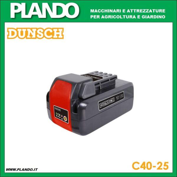 DUNSCH C40-25 Batteria 40V 2.5 ah