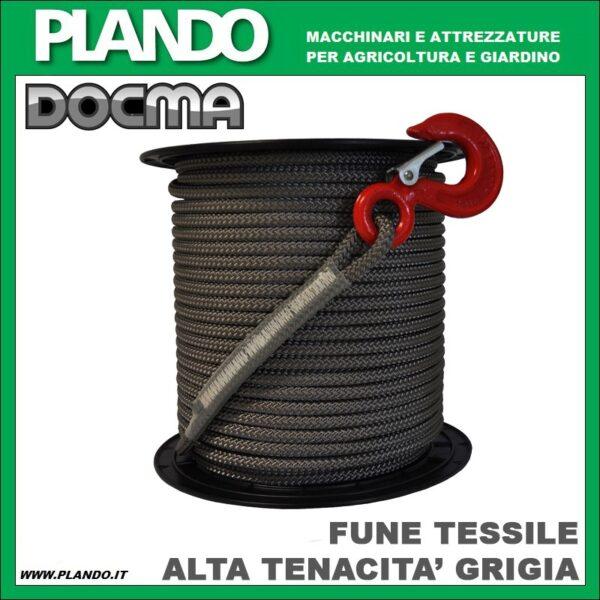Docma FUNE TESSILE AD ALTA TENACITA' GRIGIA 2200kg