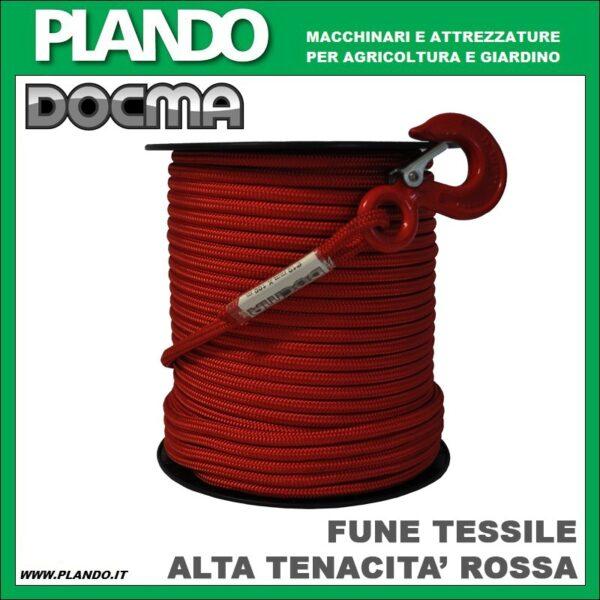 Docma FUNE TESSILE AD ALTA TENACITA' ROSSA 1700/2300kg