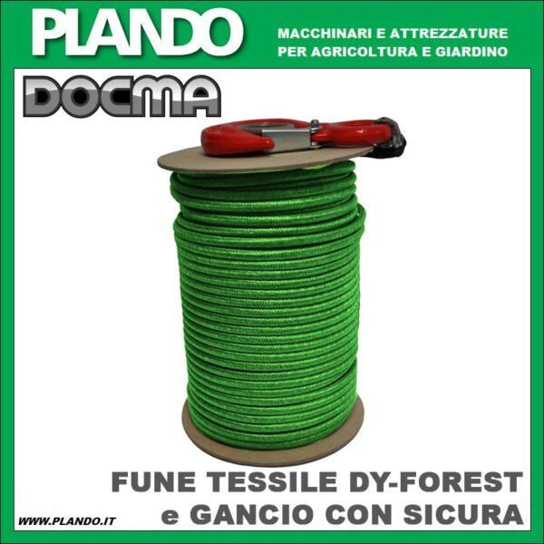 Docma FUNE TESSILE DY-FOREST e GANCIO CON SICURA