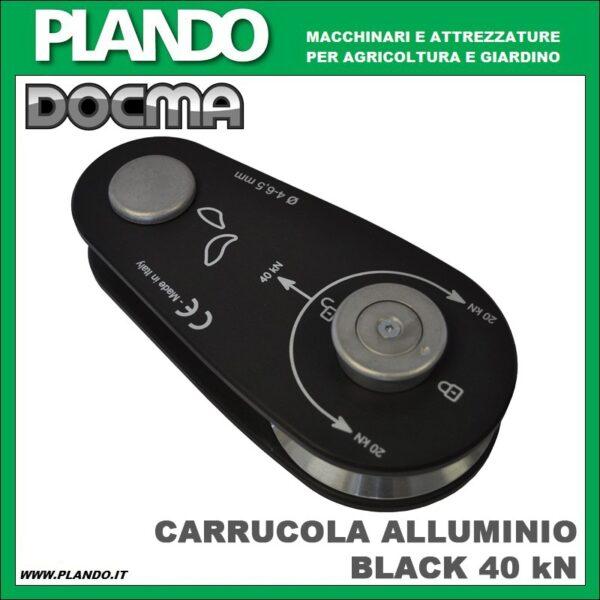Docma CARRUCOLA ALLUMINIO BLACK 40 kN