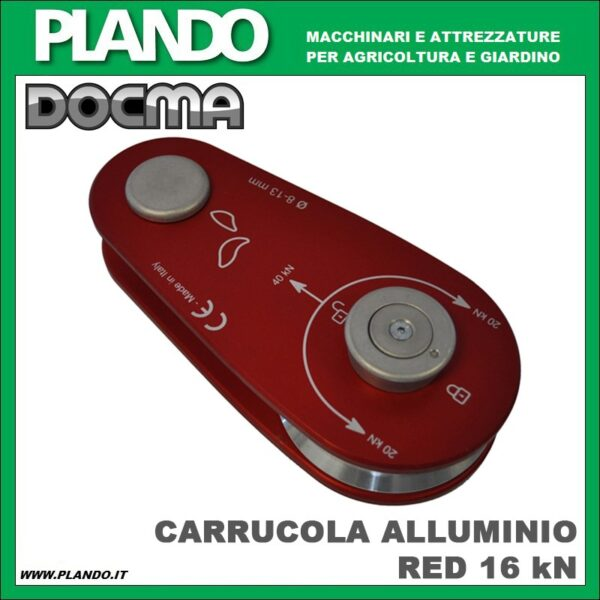 Docma CARRUCOLA ALLUMINIO RED 40 kN