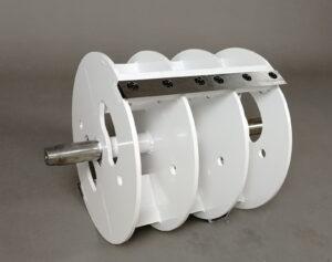 Il sistema di taglio a tamburo della cippatrice cingolata AGRINOVA ZAKANDRA